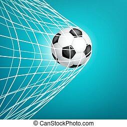 축구 공, net., 목표