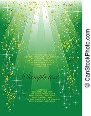 축제, 덮개, 녹색의 배경, 소책자, 휴일, 또는