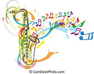 축제, 음악, 삽화