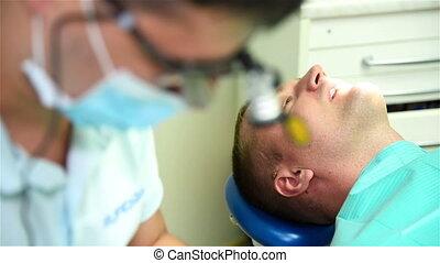 치과 의사, 은 준비한다, 도구