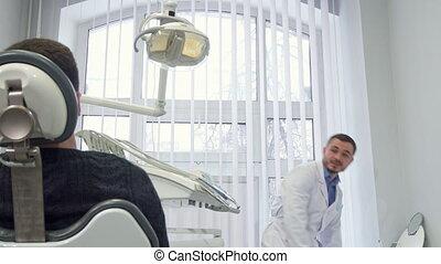 치과 의사, 은 준비한다, 치고는, 임명, 의, 환자