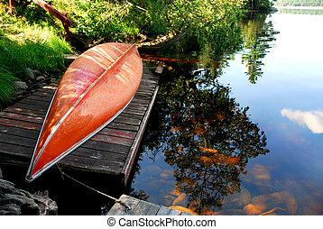 카누, 호수