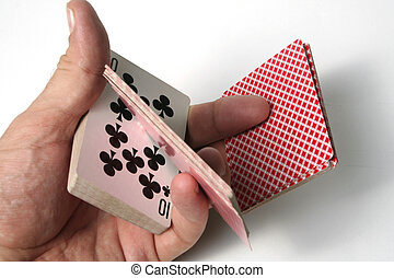 카드 놀이를 하는 것, 은 속인다, 초점