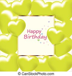카드, 생일, 인사, vector., 행복하다
