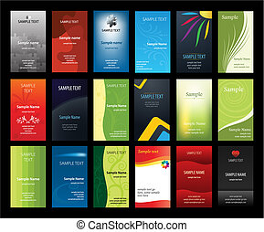 카드, 세트, 사업, verical