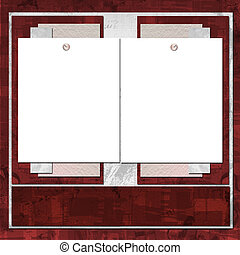 카드, 치고는, 초대, 또는, 축하, 에서, scrapbooking, 스타일, 디자인