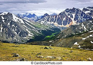 캐나다, 산, 바위가 많은, 국립 공원, 벽옥