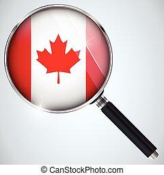 캐나다, 스파이, usa 정부, nsa, 프로그램, 나라