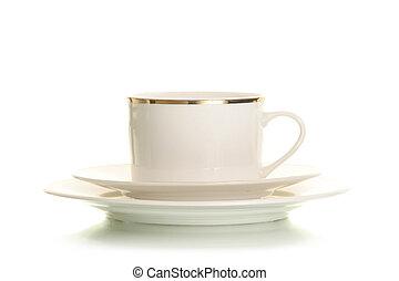 커피, 고립된, 컵