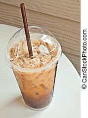 커피, 커피점, 얼음으로 덮인