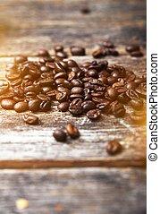 커피, wood 판자