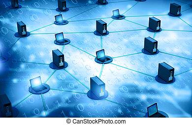 컴퓨터 네트워크, 와, 서버