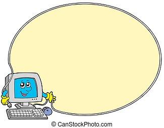 컴퓨터, 둥근, 구조
