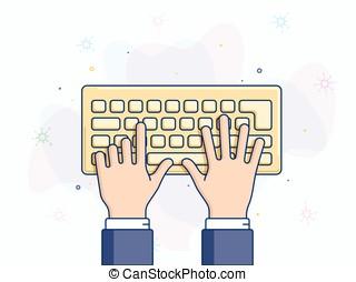컴퓨터 키보드, 벡터, 삽화