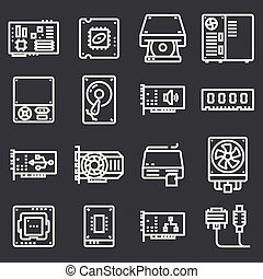 컴퓨터 하드웨어, icons.