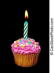 컵케이크, 양초, 축하