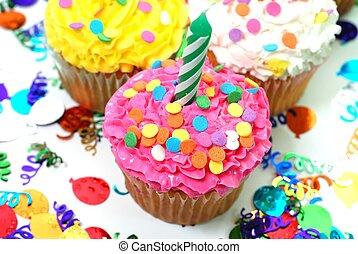 컵케이크, 초, 축하
