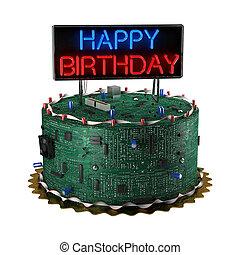 케이크, 광적인 사람, 생일