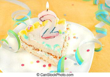 케이크, 둘, 베다, 생일