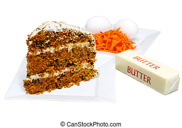 케이크 박편, 당근, 성분