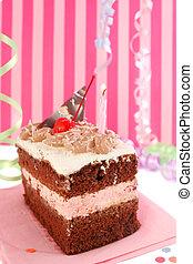 케이크, 버찌, 생일, 초콜릿 과자