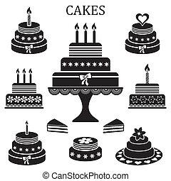 케이크, 생일, 결혼식