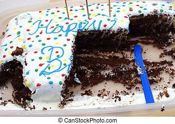 케이크, 생일, 맛보게 된다, 초콜릿 과자
