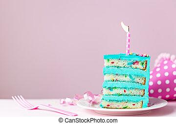케이크, 생일, 베다, 다채로운, 양초