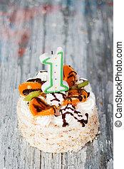 케이크, 생일, 처음
