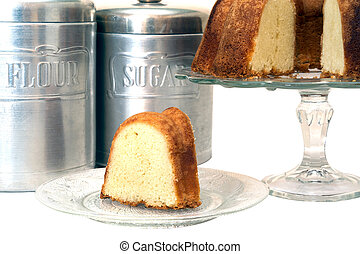 케이크, 얇게 썰린다, 파운드, 고립된