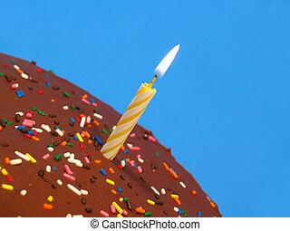 케이크, 양초, 생일