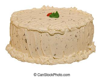 케이크, 치즈, 서리로 덥음, 크림