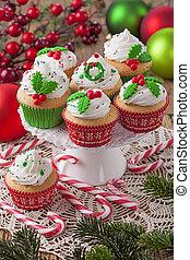 케이크, 크리스마스, 컵