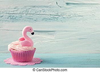 케이크, 홍학, 컵