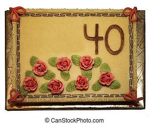 케이크, fourtieth, 생일