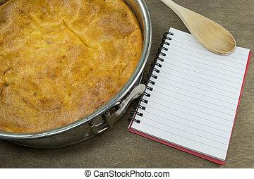 케이크, springform, 조리법, 책, &