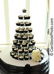 케이크, wedding., 컵