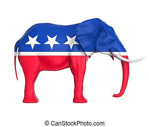 코끼리, 공화당원, 고립된