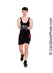 코카서스 사람, 남자 운동, 연습, 적당