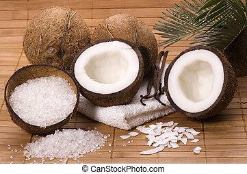 코코넛, 와..., 바닐라, 목욕