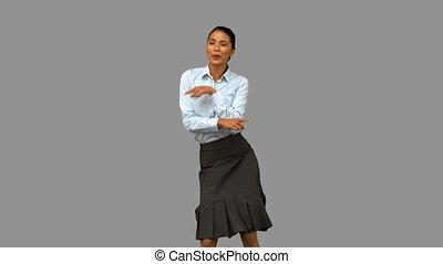 쾌활한, 여자 실업가, 디스코 춤