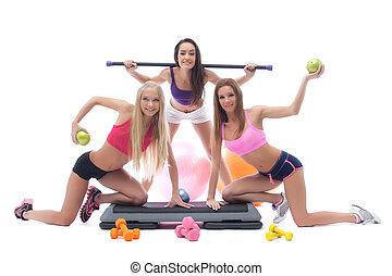 쾌활한, 장비, 여자 운동가, 체조