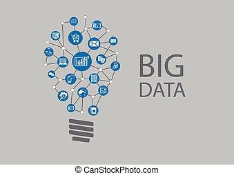크게, 혁명, 자료, 디지털