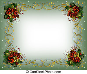 크리스마스, 경계, 구조, 우아한