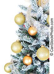 크리스마스 나무, 고립된, 백색 위에서