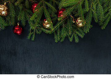 크리스마스, 배경., 배경, 삽입물에, text., 그만큼, 새해, 2018