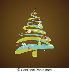 크리스마스, 배경, 와, 크리스마스 나무