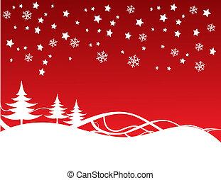 크리스마스, 배경, 충분히, editable, 벡터, 삽화
