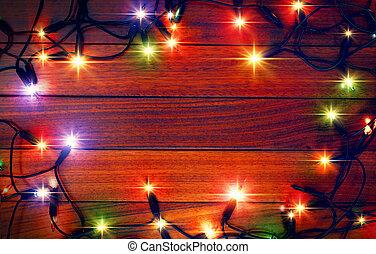 크리스마스, 색깔은 점화한다, 배경