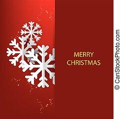 크리스마스, 인사, card., 벡터, 악